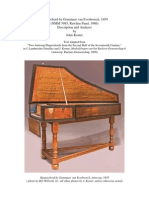 Harpsichord by Gommaar Van Everbroeck 1659 Description and Analysis by John Koster