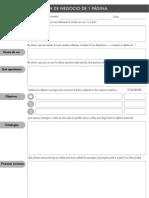 Plan de Negocio 1 Pagina