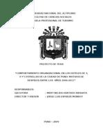 COMPORTAMIENTO ORGANIZACIONAL EN LOS HOTELES DE 3, 4 Y 5 ESTRELLAS DE LA CIUDAD DE PUNO MOTIVOS DE DESPIDOS ENTRE LOS  AÑOS 2006-2011
