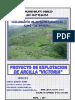 DIA Proyecto Explotacion de Arcilla