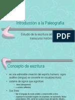 Introducción a la Paleografía