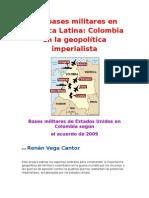 Las bases militares en América Latina