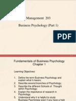 Part 1 Business Psychology