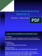 Fuentes No Contenidas en El Art. 38