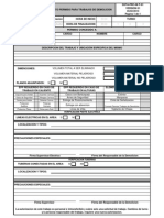 Formato Permiso Para Trabajos de Demolicion