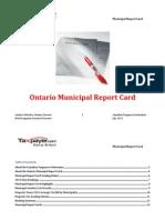 Ontario Municipal Report Card