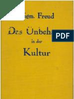 Freud Unbehagen in Der Kultur
