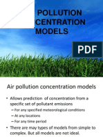 W2 L2 Air Pollution Concentration Models