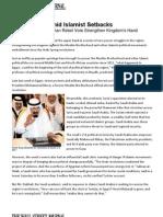 Saudis Gain Amid Islamist Setbacks