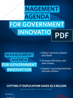 The Management Agenda for Government Innovation