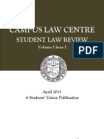 Campus Law Centre Student Law Review  Vol. I Issue I