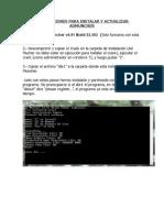 Instrucciones Para Instalar y Actualizar Admuncher