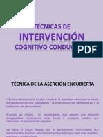 Tecnicas cognitivo conductuales