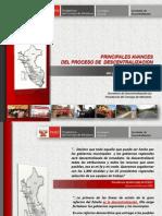 PPT sobre Avances de la Descentralización 2006-2009 FINAL