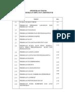 Spesifikasi Teknis Sipil Arsitektur
