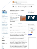 Online brand management for dummies part1