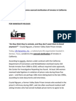 Life Dynamics Condemns Coerced Sterilization of Inmates in California