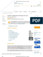 ASP .NET Application and Page Life Cycle