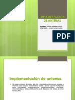 IMPLEMENTACIÓN DE ANTENA