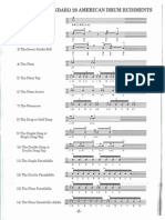 Standard 26 American Drum Rudiments (Condensed)