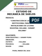 Informe Tecnico Suelos Sunarp Sullana