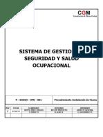 P - SGSSO - OPE - 001 - Procedimiento Instalación de Faenas