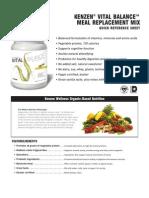 Kenzen Vital Balance Meal Replacement Mix