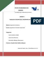 UNIDAD 5. ANÁLISIS DE REEMPLAZO E  INGENIERIA ECONOMICA