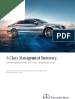 Mercedes-Benz S-Class Management Summary