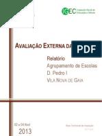 Relatório AE Agrup Escolas D Pedro I