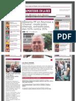 07-07-2013 Adelanta PP en Reynosa a 'Chuma' Mediciones Internas, Extraoficiales, Dan 53% Contra 35%
