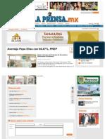07-07-2013 Aventaja Pepe Elías con 60.87%, PREP