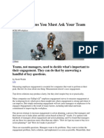 Five Questions You Must Ask Your Team