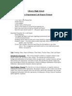 science department lab report format