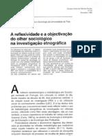 Telmo Caria - A Reflexividade e a Objectivacao Do Olhar Sociologico