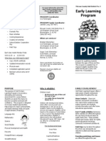 Early Learners Program Brochure 2012-2013
