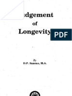 Judgement of Longevity by D P Saxena