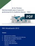 Actualización de las NIA 2012 dic 1 2012