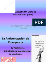 Anticoncepcion Oral de Emergencia (Aoe)