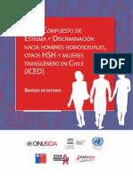 Estudio Estigma y Discriminacion Hsh y Mujeres Trans. Chile Dic 2012