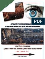 SITUACIÓN POLÍTICA INTERNACIONAL-NACIONAL ABRIL-JUNIO 2013 -CHILE
