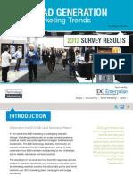 b2b lead generation report