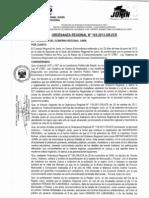 ORDENANZA REGIONAL N° 163-2013GR-CR