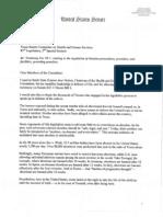 Sen. Ted Cruz Written Testimony Supporting SB 1/HB 2