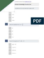 ASVAB Math Knowledge Practice Test 1