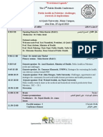 public health conference programme- v 28 march 20135