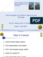 Technologies for Carbon Capture and Storage TEE 11.05.09