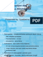 Penatalaksanaan Dan Pencegahan Rhinitis Akut