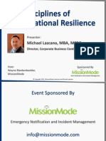 Five Disciplines of Organizational Resilience