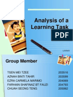 Analysis Learning Task